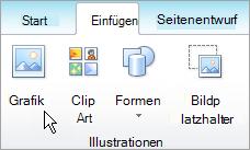 Auswählen eines Bilds auf der Registerkarte ' Einfügen '