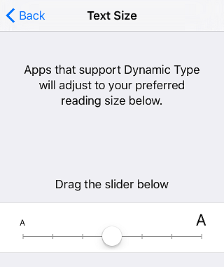Dynamische Textgröße festlegen