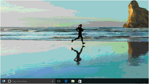 Animiertes GIF-Bild mit alphanumerischer Sortierung im Startmenü