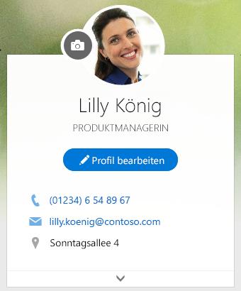 """Klicken Sie auf """"Profil bearbeiten"""", um Ihre Informationen zu bearbeiten"""