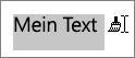 Ziehen über Text, um die kopierte Formatierung anzuwenden