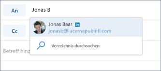 Vorgeschlagener LinkedIn Kontakt