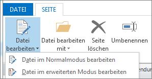 Schaltfläche 'Datei bearbeiten'