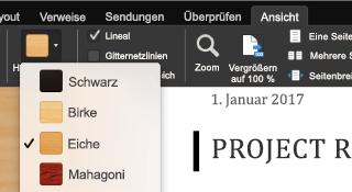 Fokusmodusfunktion für Office für Mac