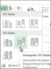 Gestapelte 3D-Säulen