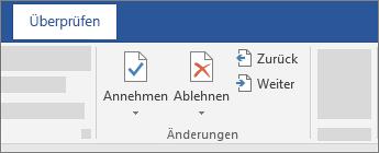 """Abschnitt """"Änderungen"""""""