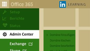 """Zeigt eine Karte mit der Abbildung eines Teils des Office 365 Admin Centers. Steht für den Kurs """"Office 365-Verwaltung""""."""