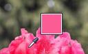 Pipettencursor und abgeglichene Farbe