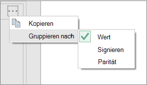 """Beispiel für zusätzliche """"Gruppieren nach""""-Befehle"""