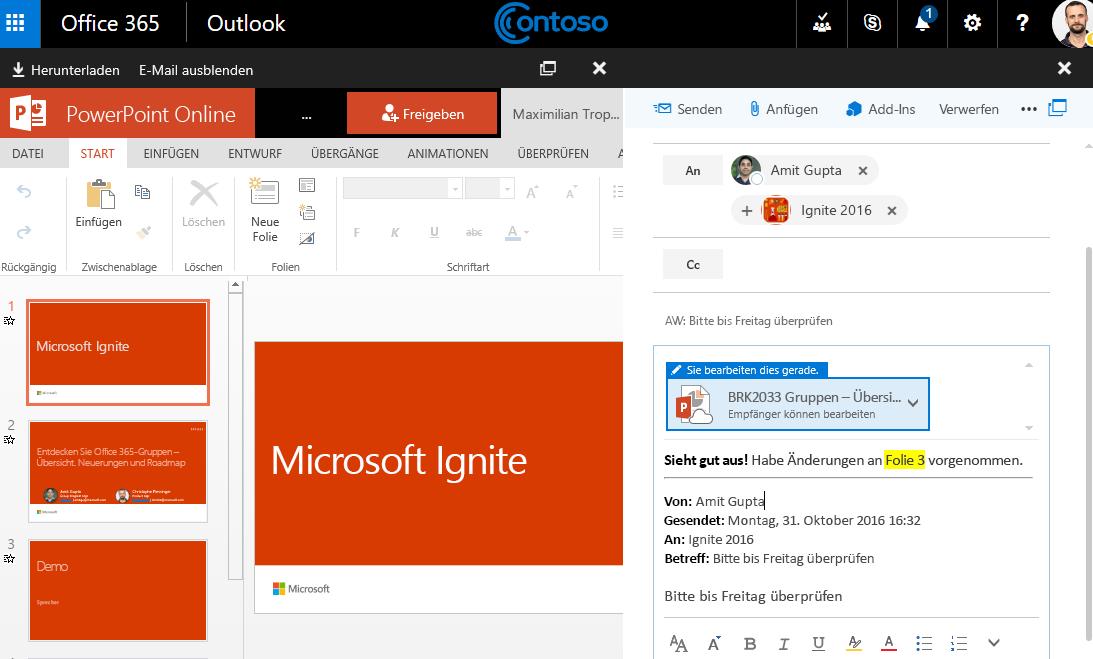 Screenshot mit e-Mail-Anlagen