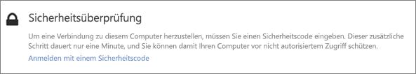 """Beispiel für Benutzeroberflächenbenachrichtigung mit Prüfcode für OneDrive-Anforderung """"Abrufen"""""""