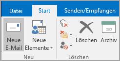 """Auf """"Neue E-Mail"""" klicken"""