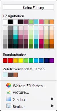 Optionen von 'Farbe'