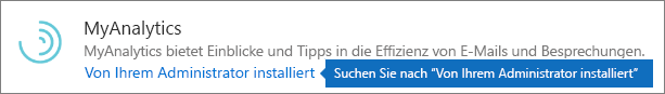 Ein Administrator hat ein Add-In im Outlook-Speicher installiert.