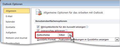 Outlook email hintergrund grau