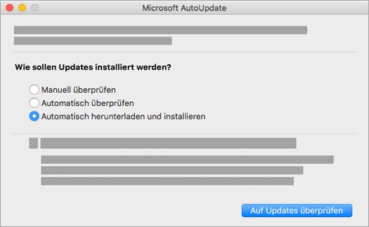 Microsoft AutoUpdate für Mac