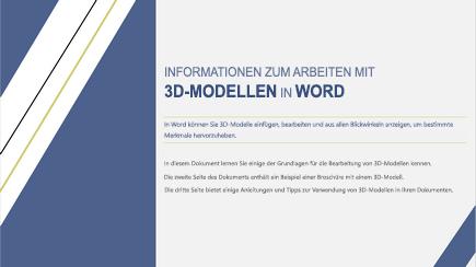 Screenshot des Deckblatts einer 3D-Vorlage in Word