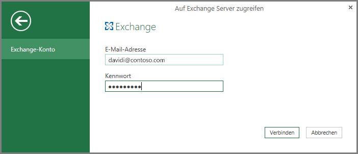 Exchange-Anmeldeinformationen