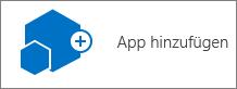 """Das Symbol """"App hinzufügen"""" im Dialogfeld """"Websiteinhalte"""""""