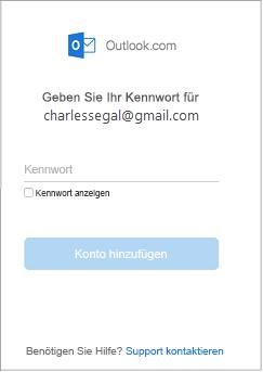 Kennwort-Dialogfeld.