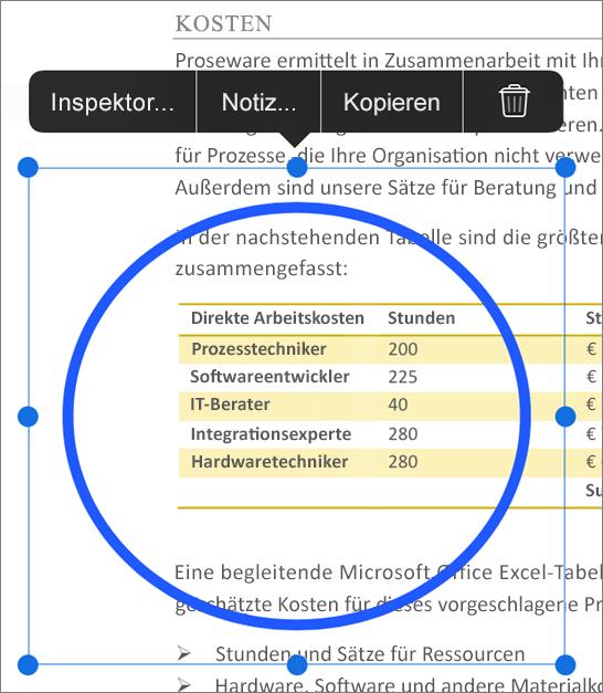 PDF-Markup bearbeiten