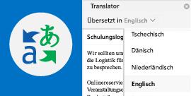 Lesen von Outlook-E-Mails in Ihrer bevorzugten Sprache
