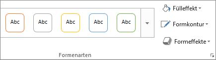 """Formatvorlagen auf der Registerkarte """"Format"""""""