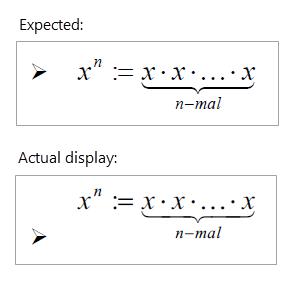 Gleichungen in Word 2016 sehen falsch ausgerichtet oder abgeschnitten aus