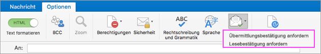 Erhalten Sie Benachrichtigungen für die E-Mail-Übermittlung.