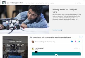 Abbildung der Vorlage für eine Leadership-Website