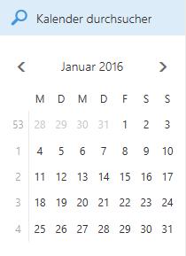 Kalendersuchfeld