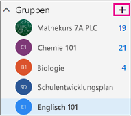 """Linker Navigationsbereich in Outlook im Web mit hervorgehobener Schaltfläche """"Erstellen"""""""