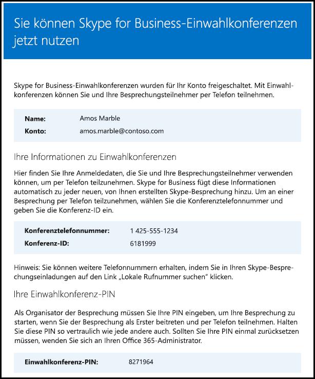 Skype for Business-Lizenz überprüfen