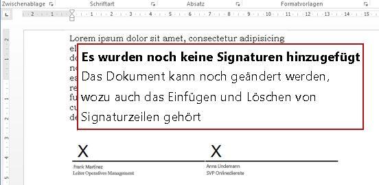 Dokument ohne erste Signatur, sodass weiterhin Änderungen möglich sind