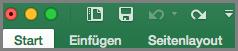 Office 2016 für Mac – Symbolleiste für den Schnellzugriff