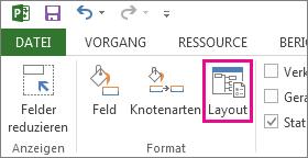 Schaltfläche 'Layout' auf der Registerkarte 'Format'