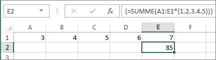 Eine Matrixkonstante, die in einer SUMMEN-Formel geschachtelt ist