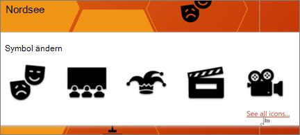 Eine Auswahl von Theatersymbolen