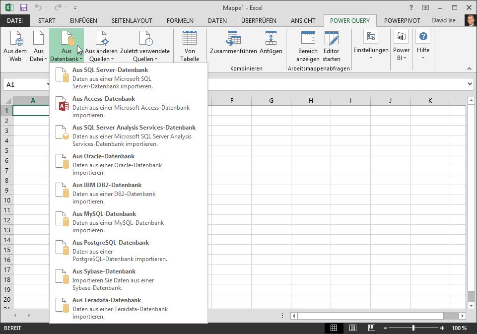 Abrufen externer Daten aus einer Datenbank