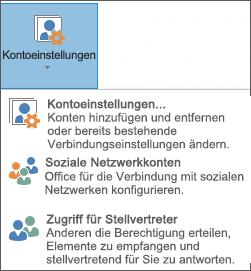 Bildschirmfoto zum Hinzufügen einer Stellvertretung in Outlook