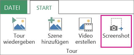 Bildschirmfoto auf der Registerkarte 'Start'
