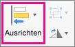 """PowerPoint für Mac-Befehl """"Ausrichten"""""""