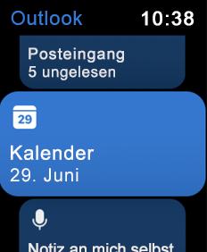Zeigt den Apple Watch-Bildschirm
