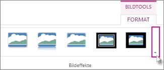Klicken Sie auf die Schaltfläche 'Weitere', um weitere Rahmenarten anzuzeigen.