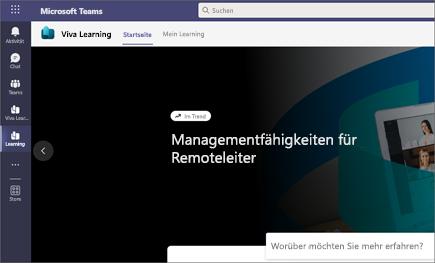 Der Tab Meine Lerninhalte zeigt empfohlene und von Microsoft und Drittanbietern bereitgestellte Lerninhalte an