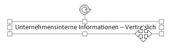 Klicken auf das Textfeld, bis der Pfeil mit vier Spitzen angezeigt wird