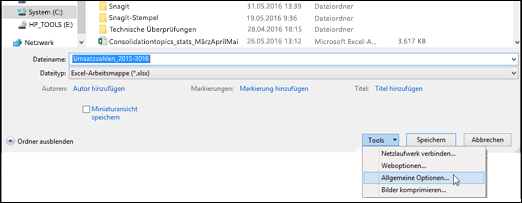 Prüfen auf den richtigen Dateinamen