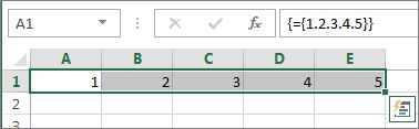 Eine eindimensionale horizontale Matrixkonstante