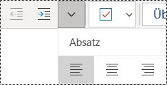 Linksbündiges Ausrichten von Absätzen in der OneNote für Windows 10-App