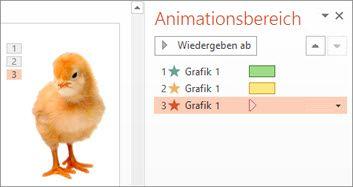 Mehrere Animationen auf ein einziges Objekt anwenden